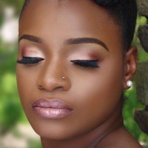 Black bridal make-up