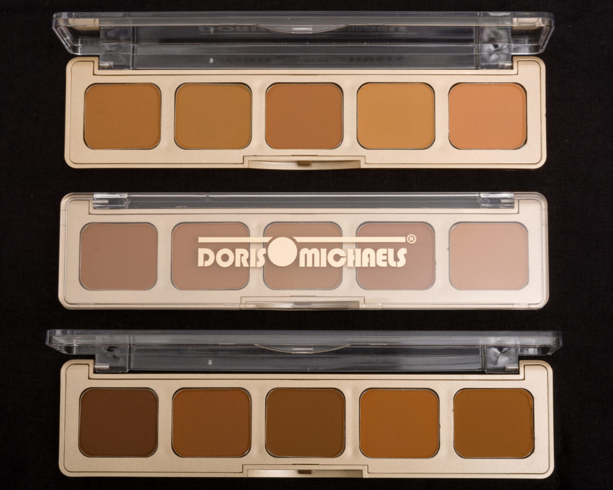 best black skin colour match palettes